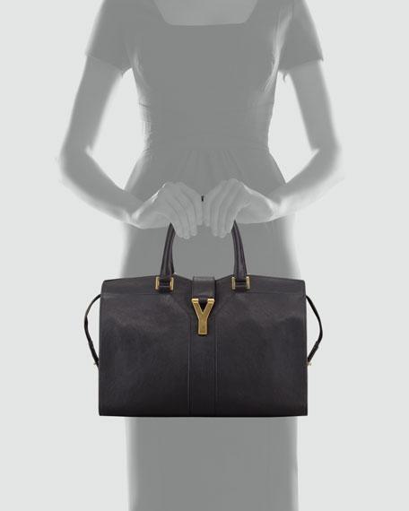 Y Ligne Medium Tote Bag, Black