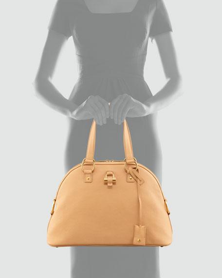 Muse Medium Calfskin Dome Bag, Natural