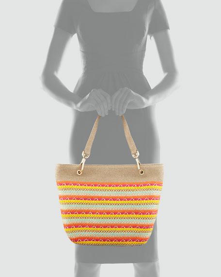 Squishee Clip Tote Bag, Multi Colors