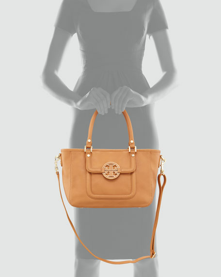 Amanda Mini Satchel Bag, Tan