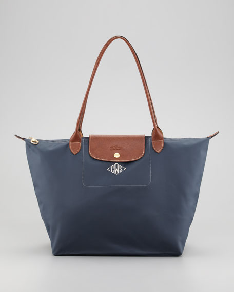 Le Pliage Monogrammed Large Shoulder Tote Bag, Modern Colors