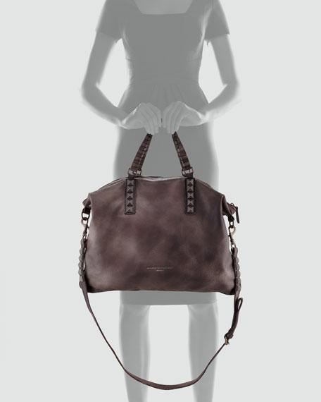 Sandrine Studded Tote Bags, Amber