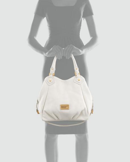 Classic Q Fran Satchel Bag, White