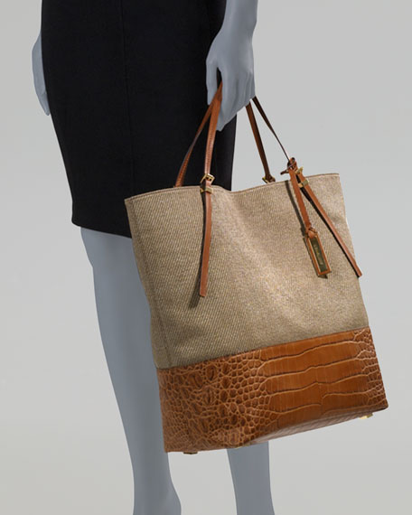 Large Gia Woven Slouchy Tote