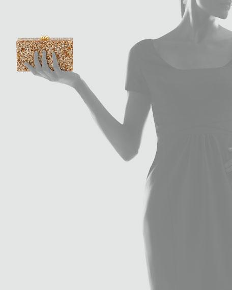 Jean Confetti Acrylic Clutch Bag, Neutral