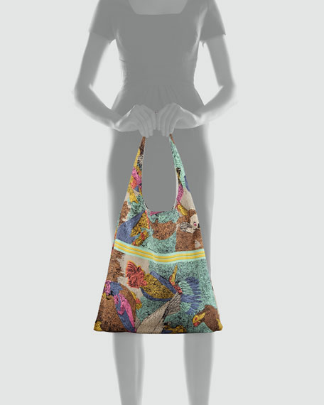 Parrot Scarf Shopper Bag