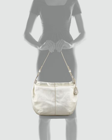 Cornelia Parker Metallic Hobo Bag, White Gold