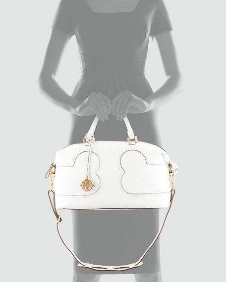 Amalie Satchel Bag, Ivory