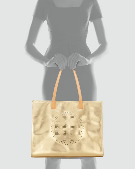 Large Perforated East-West Logo Tote