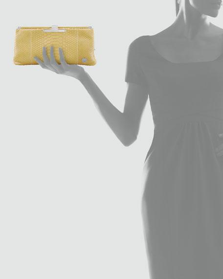 Lauren Python Clutch Bag, Pear