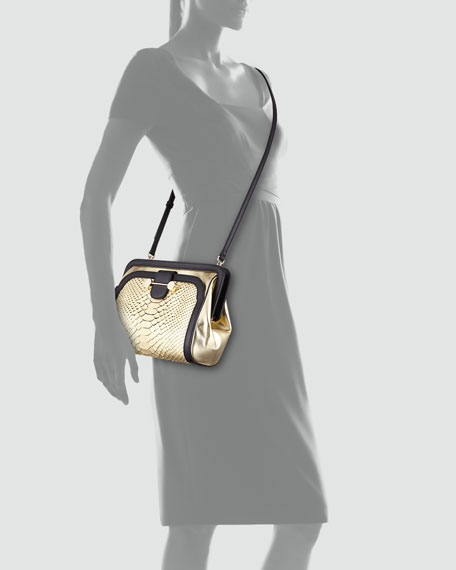 Daphne Python Crossbody Bag