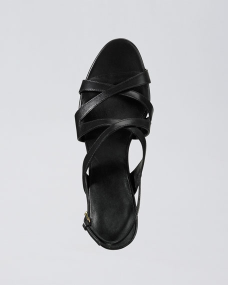 Air Tiona Strappy Sandal, Black