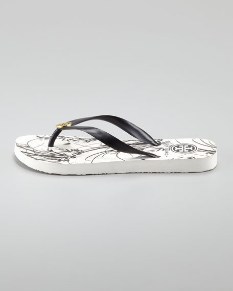 Patterned Flip-Flop Sandal