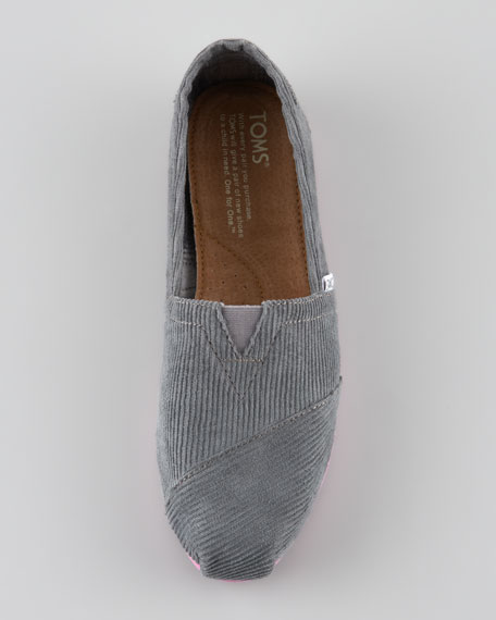 Corduroy Slip-On, Gray