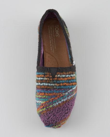 Striped Wool Slip-On, Multicolor