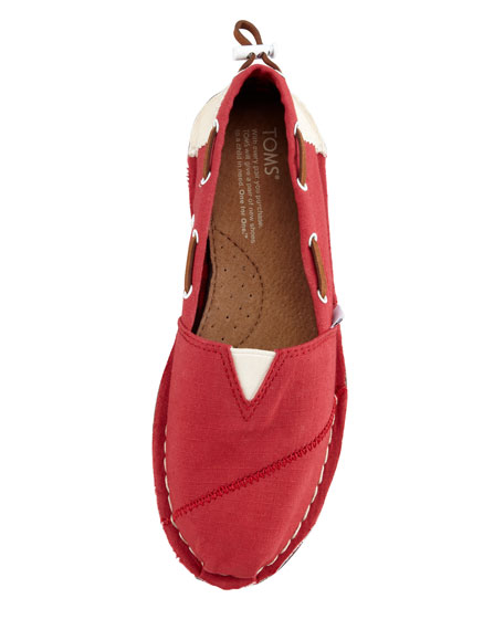 Bimini Boat Shoe, Red