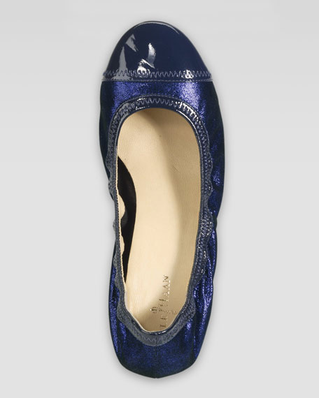 Milly Metallic Wedge Ballerina, Blazer Blue