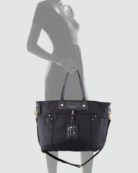 Preppy Nylon New Eliz-A-Baby Diaper Bag, Black