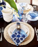 Straw Loop Placemat & Exotic Tile Napkins