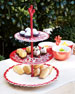 Coral Branch Melamine Three-Tier Server