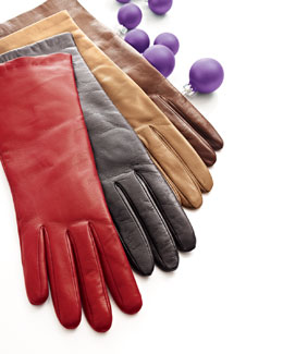 Portolano Cashmere or SIlk-Lined Four-Button Gloves
