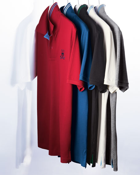 Short-Sleeve Polo, White