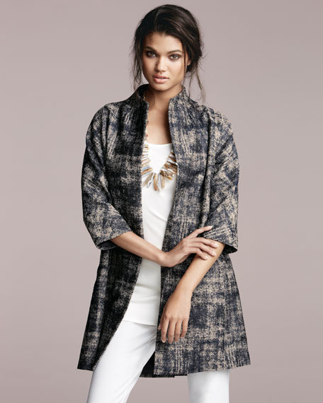 Illusion Jacquard Coat, Women's