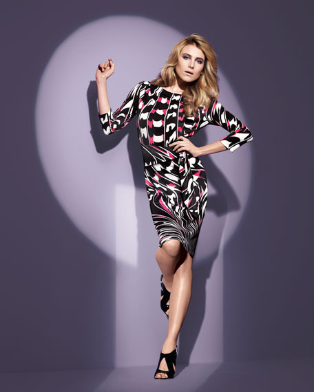 Exclusive Marilyn Printed Dress