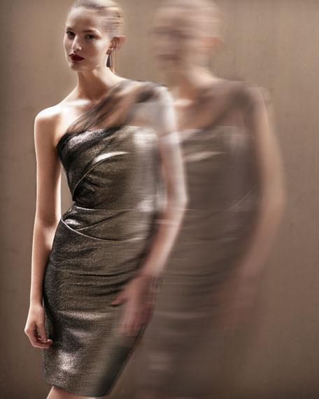 Tulle One-Shoulder Dress