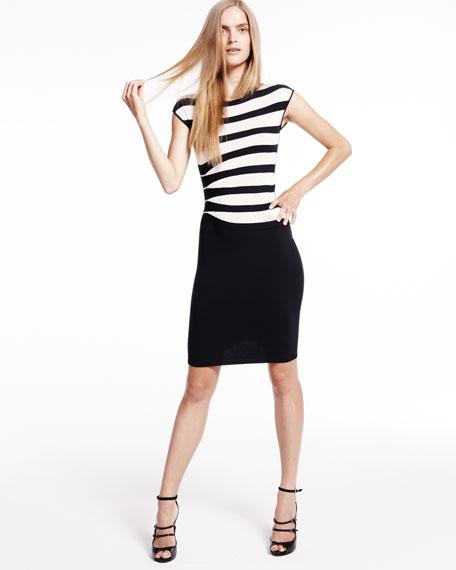 Striped-Top Dress