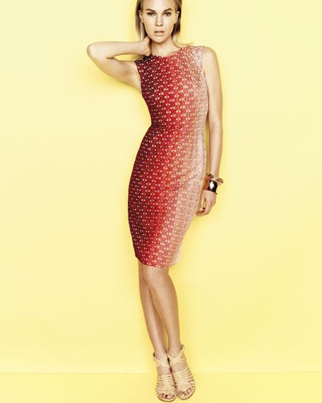 Ombre Crochet Contrast-Front Dress