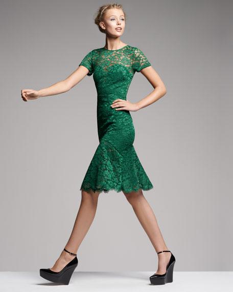 Burberry Prorsum Cutout-Back Lace Dress