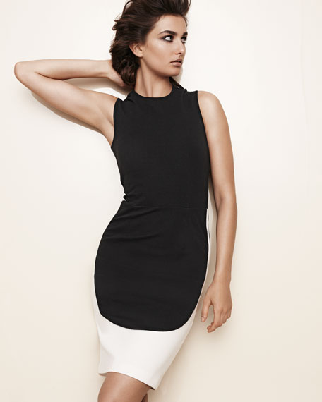 Elliptical-Colorblock Dress