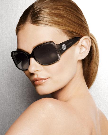Wide-Arm Plastic Sunglasses