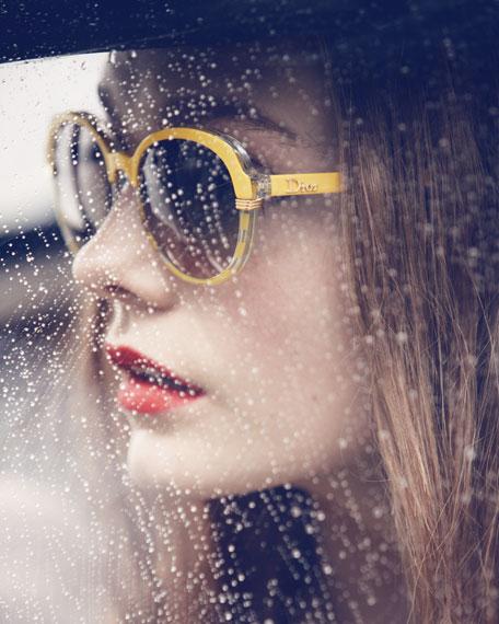 Round Croisette Sunglasses, Yellow