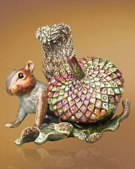 """Florian"" Acorn & Squirrel Clock"