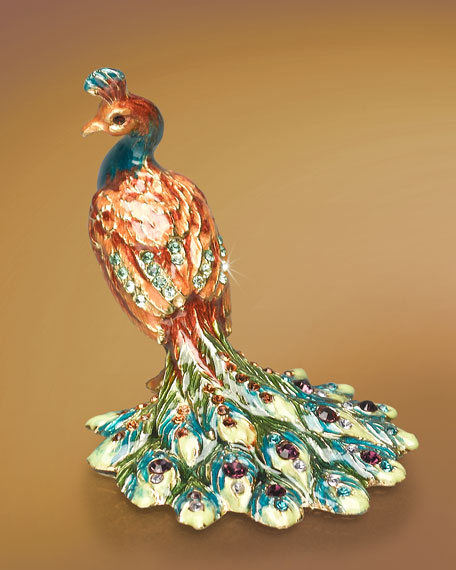"""Kerri"" Peacock Mini Figurine"