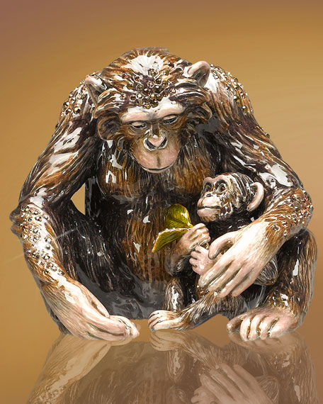 Chimp & Baby Figurine