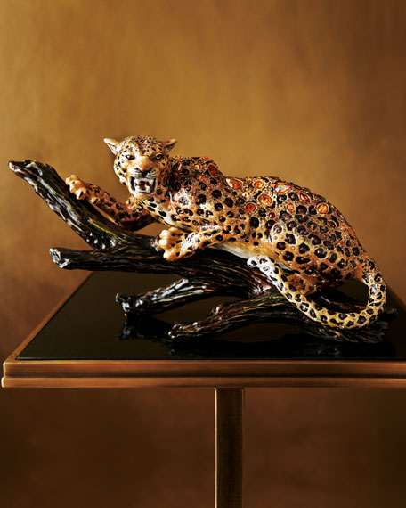 Jaguar on a Branch Figurine