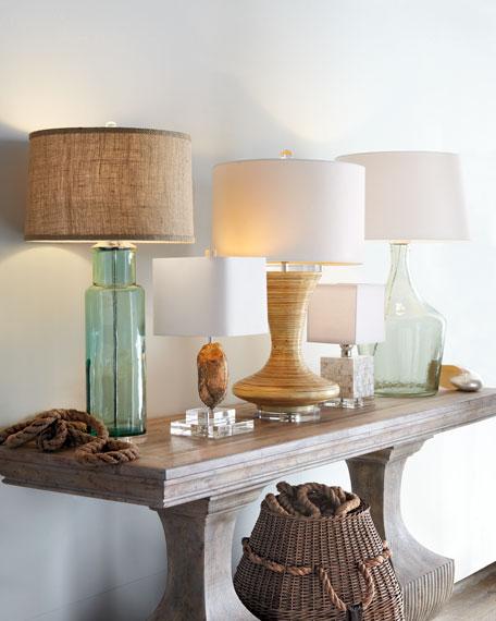 Mother-of-Pearl Mini Cube Lamp
