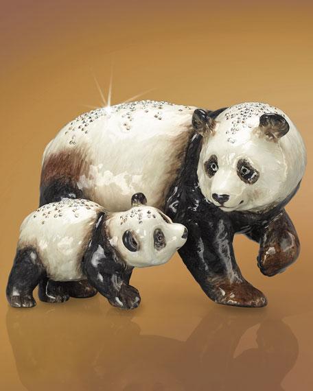 """""""Bai Yun & Sun Lin"""" Panda Mother & Child Figurine"""
