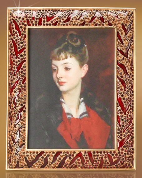 """Vanessa"" Tiger-Print Frame"