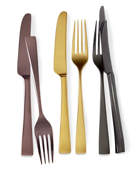 "Five-Piece ""Argento Copper"" Flatware Place Setting"