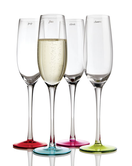 """kate spade new york Four """"Say the Word"""" Flutes"""