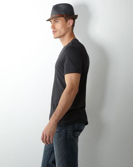 Craig Leather-Belt Fedora