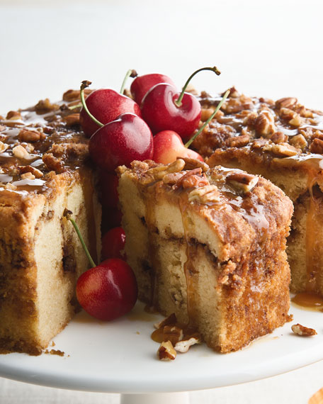 Sour Cream Cake With Caramel Drizzle