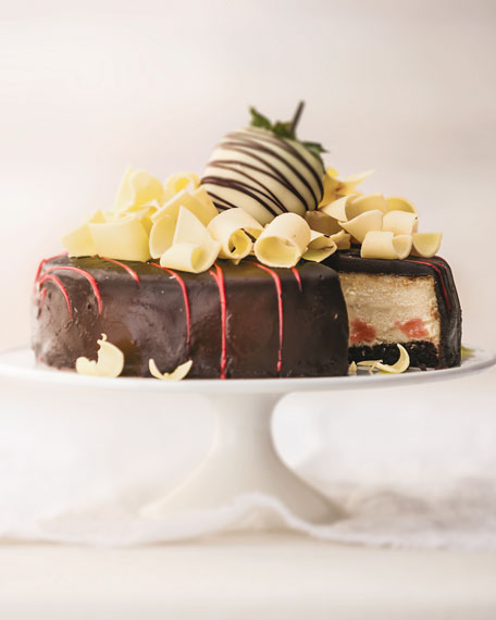 Chocolate-Covered Strawberry Cheesecake