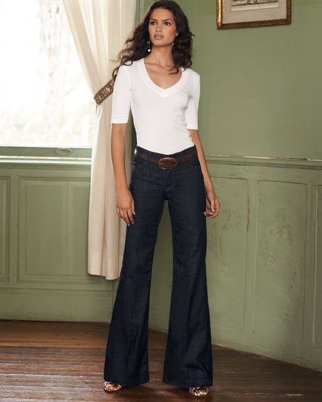 7 For All Mankind Ginger High-Rise Wide-Leg Jeans