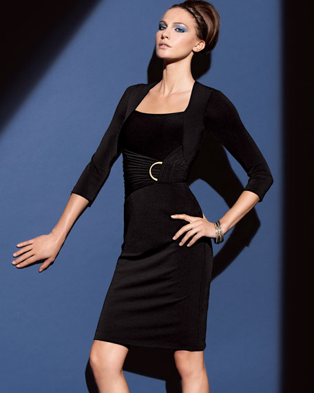 Knit Ruched Hardware Dress