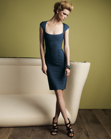 Essential Cap-Sleeve Bandage Dress